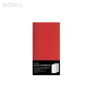 웍스 블렌드 노트북(86x150mm)-레드(WAN-1794)
