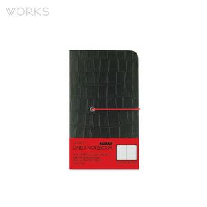 웍스 프리미엄 라인드 노트북 미니(92x151mm)-블랙(WAN-1313)