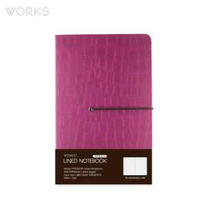 웍스 프리미엄 라인드 노트북 맥시(142x220mm)-마젠타(WAN-1341)