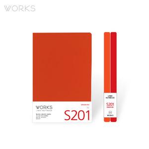 웍스 라인드 노트북S 맥시(140x214mm)-S201 드래곤레드(WAN-2011)
