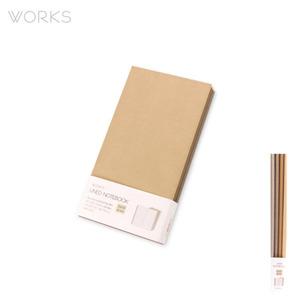 웍스 라인드 노트북S 포켓(슬림)(86x165mm)-S410 웜그레이(WAN-1254)