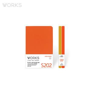 웍스 라인드 노트북S 핸디(68x105mm)-S202 하와이오렌지(WAN-2025)
