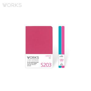 웍스 라인드 노트북S 핸디(68x105mm)-S203 오로라핑크(WAN-2035)