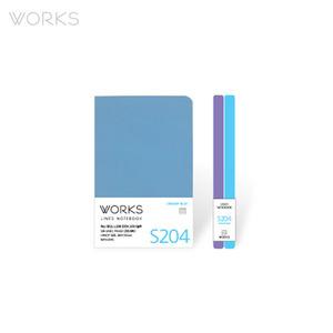 웍스 라인드 노트북S 핸디(68x105mm)-S204 크리미블루(WAN-2045)