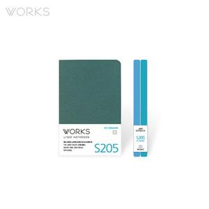 웍스 라인드 노트북S 핸디(68x105mm)-S205 아이스터쿼이즈(WAN-2055)