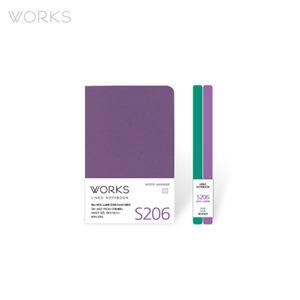 웍스 라인드 노트북S 핸디(68x105mm)-S206 미스틱라벤더(WAN-2065)
