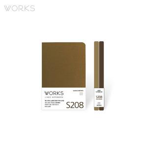 웍스 라인드 노트북S 핸디(68x105mm)-S208 카카오브라운(WAN-2085)
