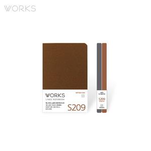 웍스 라인드 노트북S 핸디(68x105mm)-S209 앤티크오크(WAN-2095)