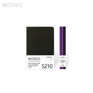 웍스 라인드 노트북S 핸디(68x105mm)-S210 코스모블랙(WAN-2105)