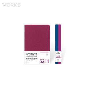웍스 라인드 노트북S 핸디(68x105mm)-S211 로맨틱마젠타(WAN-2115)