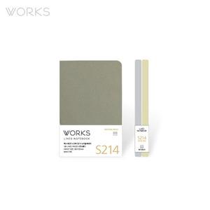 웍스 라인드 노트북S 핸디(68x105mm)-S214 뉴트럴베이지(WAN-2145)