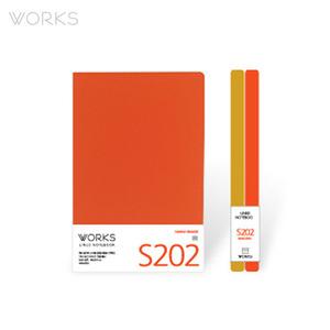 웍스 라인드 노트북S 맥시(140x214mm)-S202 하와이오렌지(WAN-2021)