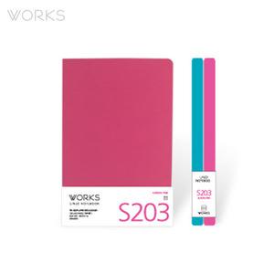 웍스 라인드 노트북S 맥시(140x214mm)-S203 오로라핑크(WAN-2031)