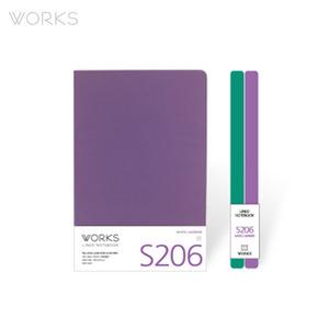 웍스 라인드 노트북S 맥시(140x214mm)-S206 미스틱라벤더(WAN-2061)
