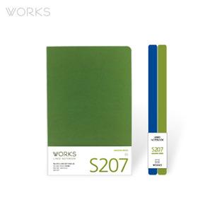웍스 라인드 노트북S 맥시(140x214mm)-S207 아마존그린(WAN-2071)