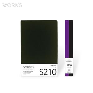 웍스 라인드 노트북S 맥시(140x214mm)-S210 코스모블랙(WAN-2101)