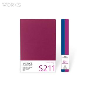 웍스 라인드 노트북S 맥시(140x214mm)-S211 로맨틱마젠타(WAN-2111)