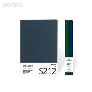 웍스 라인드 노트북S 맥시(140x214mm)-S212 스모크네이비(WAN-2121)