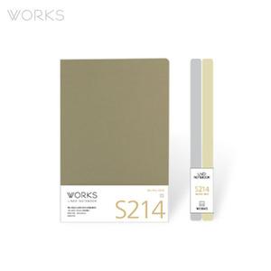 웍스 라인드 노트북S 맥시(140x214mm)-S214 뉴트럴베이지(WAN-2141)