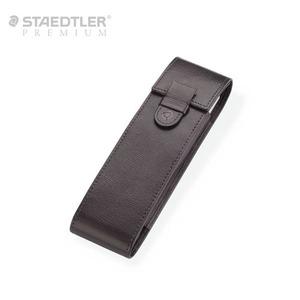 [무료각인]스테들러 프리미엄 2구 가죽케이스-브라운(9PJS2ET-7)