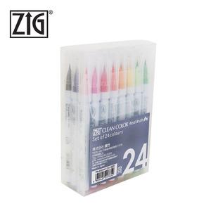 지그 클린 컬러 리얼 브러쉬 24색세트(RB-6000AT/24V)