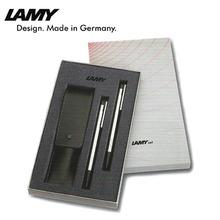 LAMY 로고 볼펜+샤프 세트-블랙(버튼칼라) 205/105