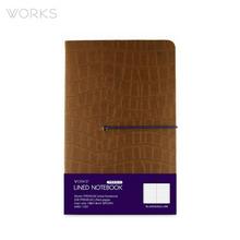 웍스 프리미엄 라인드 노트북 맥시(142x220mm)-브라운(WAN-1331)
