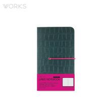 웍스 프리미엄 라인드 노트북 미니(92x151mm)-그린(WAN-1323)
