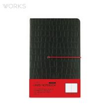웍스 프리미엄 라인드 노트북 맥시(142x220mm)-블랙(WAN-1311)