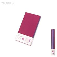 웍스 라인드 노트북S 포켓(슬림)(86x165mm)-S402 플럼퍼플(WAN-1174)