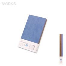 웍스 라인드 노트북S 포켓(슬림)(86x165mm)-S404 크림블루(WAN-1194)