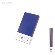 웍스 라인드 노트북S 포켓(슬림)(86x165mm)-S406 텐더블루(WAN-1214)