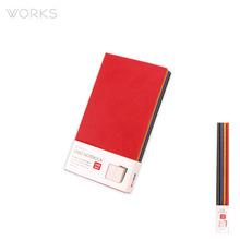 웍스 라인드 노트북S 포켓(슬림)(86x165mm)-S408 심볼레드(WAN-1234)
