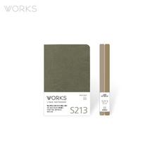 웍스 라인드 노트북S 핸디(68x105mm)-S213 마일드그레이(WAN-2135)