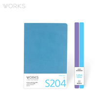 웍스 라인드 노트북S 맥시(140x214mm)-S204 크리미블루(WAN-2041)