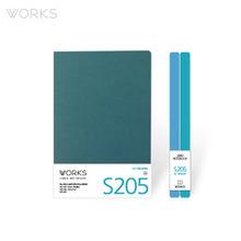 웍스 라인드 노트북S 맥시(140x214mm)-S205 아이스터쿼이즈(WAN-2051)