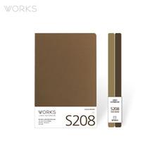 웍스 라인드 노트북S 맥시(140x214mm)-S208 카카오브라운(WAN-2081)