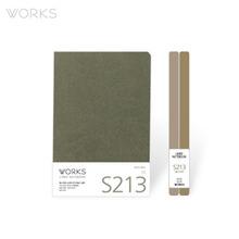 웍스 라인드 노트북S 맥시(140x214mm)-S213 마일드그레이(WAN-2131)